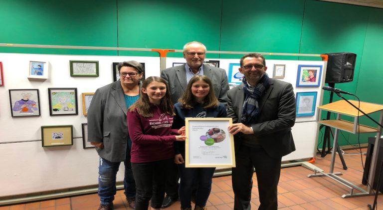 Hühner AG der Eichenlaubschule Weiskirchen erhält den  saarländischen Jugend-Tierschutzpreis