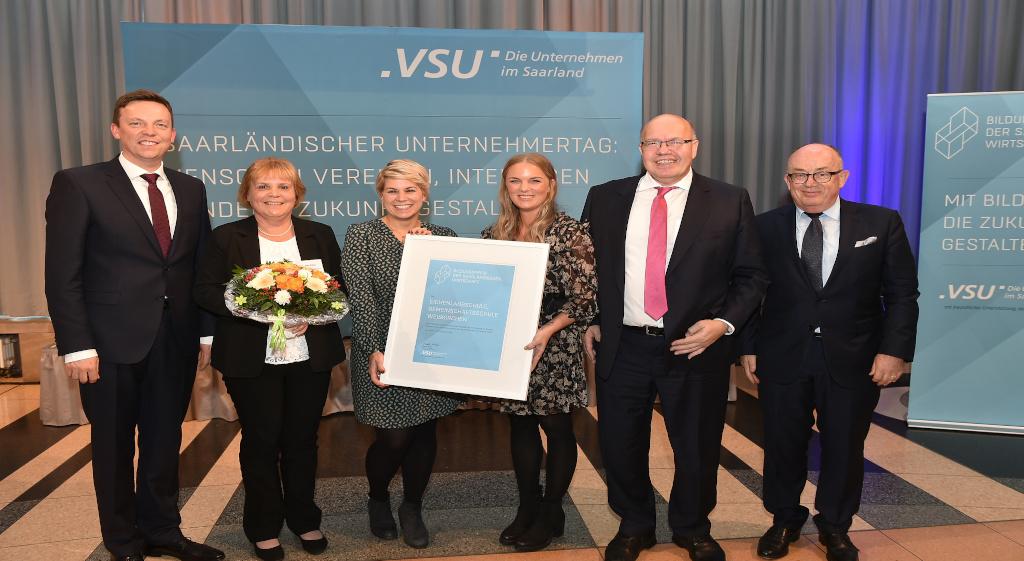 Eichenlaubschule Weiskirchen erhält den Bildungspreis der saarländischen Wirtschaft